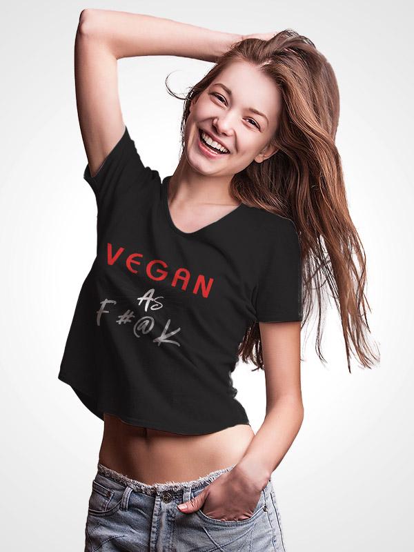 Vegan As F#ck – Crop Top