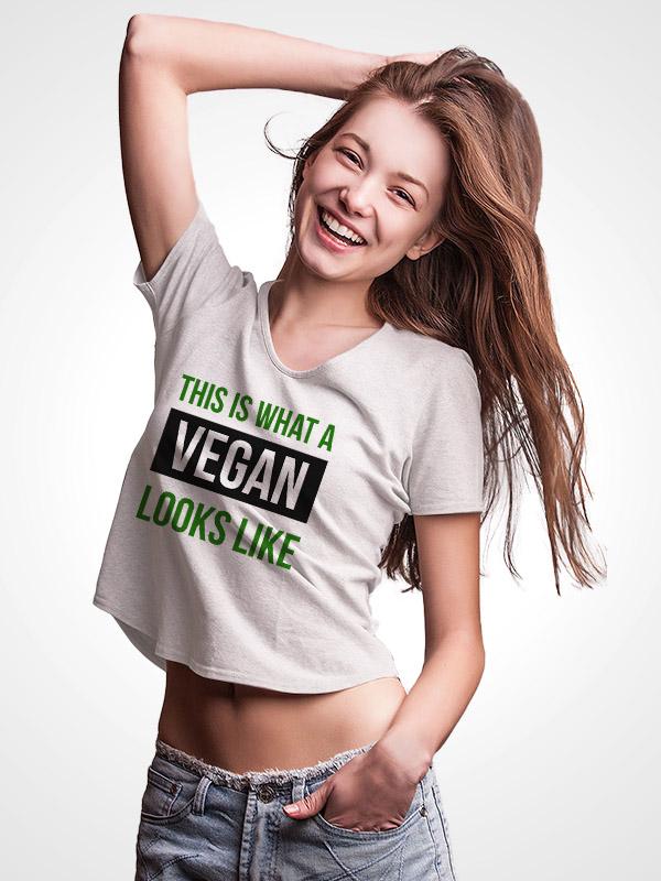 This is what Vegan looks like – Crop Top