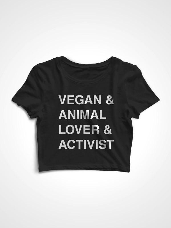 Vegan Activist – Crop Top