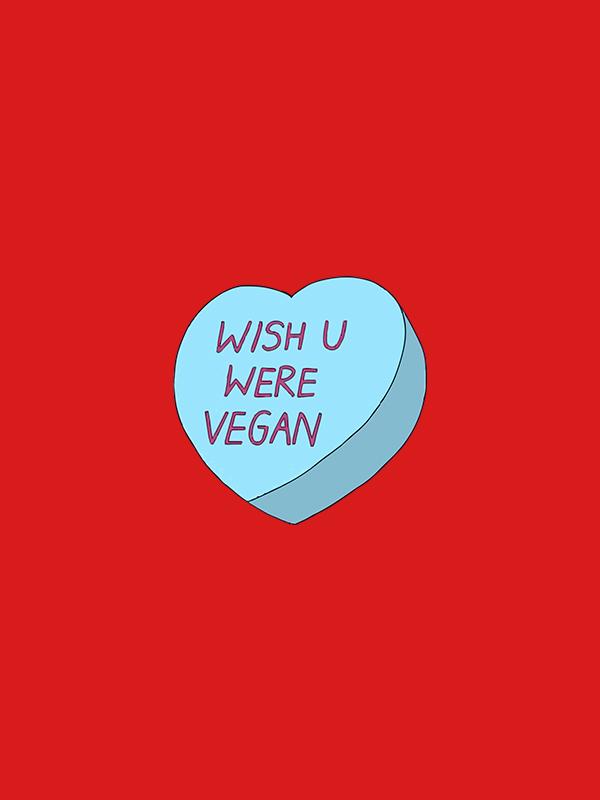 Wish You were Vegan – Unisex Hoodie