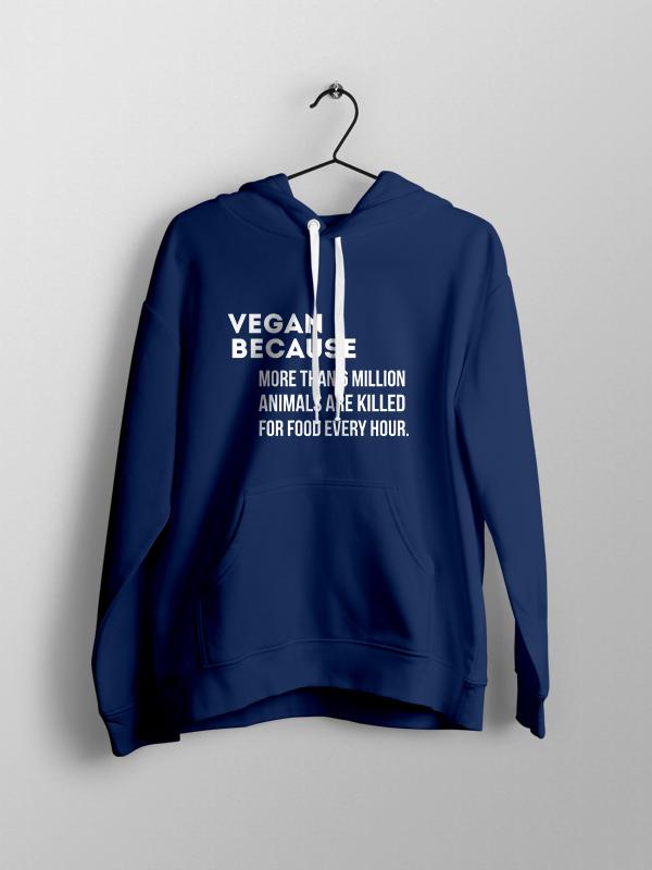 Vegan Because – Unisex Hoodie