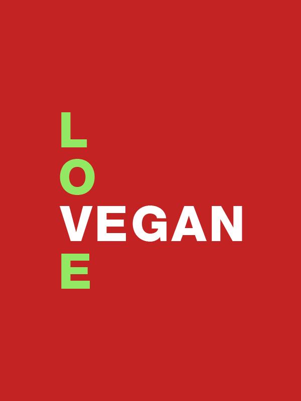 Love Vegan – Unisex Hoodie