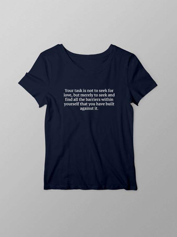 Seek inside for barriers – Women Tshirt