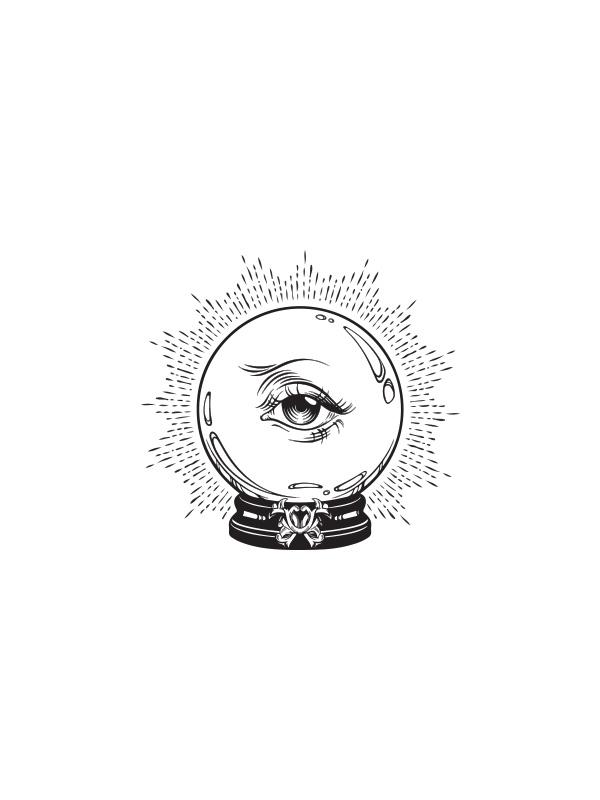 Tarot eys in Globe – Women Tshirt