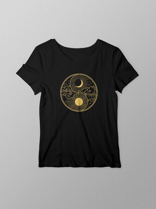 Tarot Golden Sun and Moon – Women Tshirt