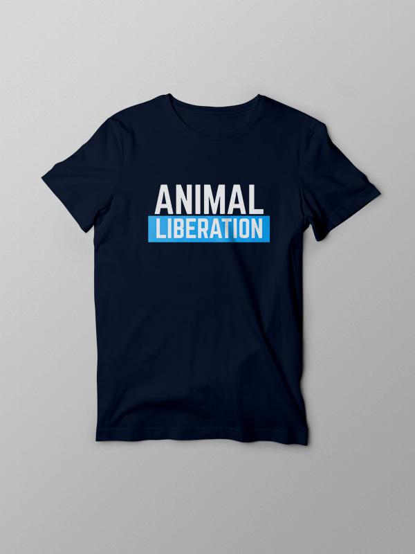 Animal Liberation Blue – Vegan Tshirt