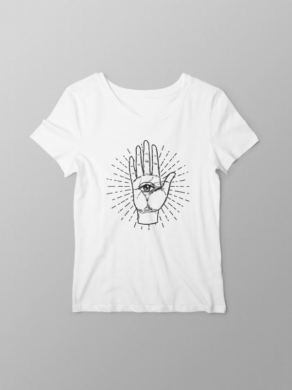 Tarot Hand – White Women Tshirt