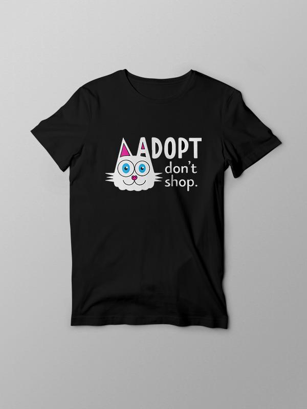 Adopt Dont Shop 3 – Vegan Tshirt