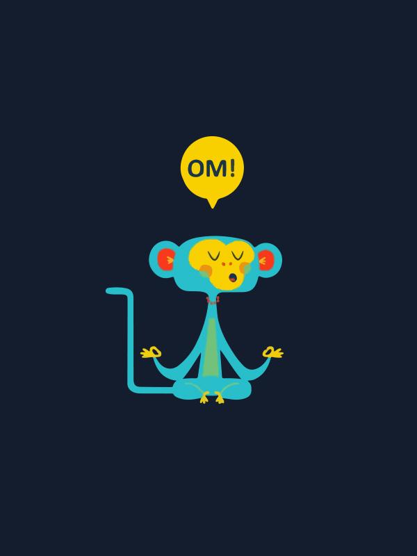 OM Yoga Cartoon – Women Tshirt