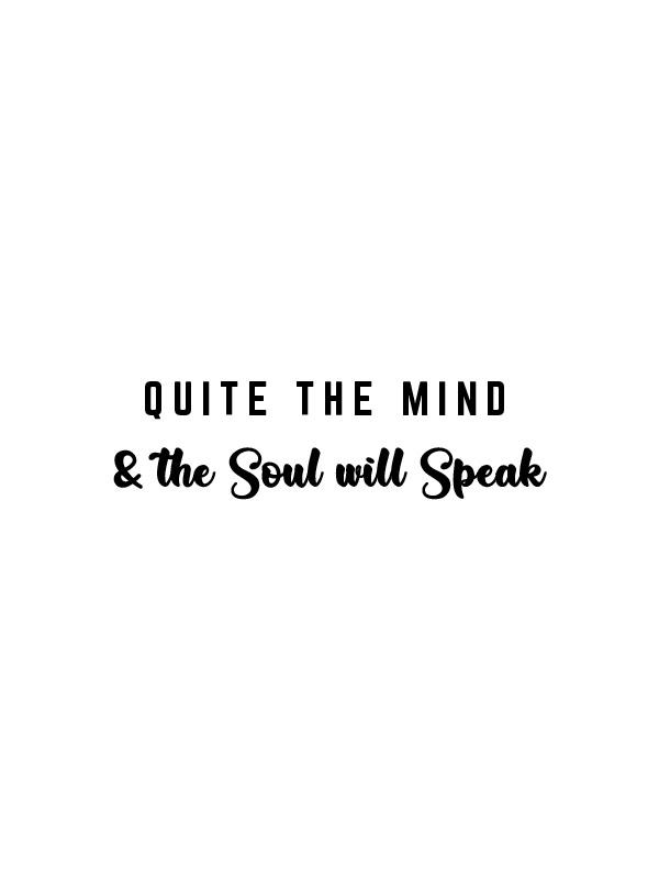 Soul will speak – White Unisex Tshirt