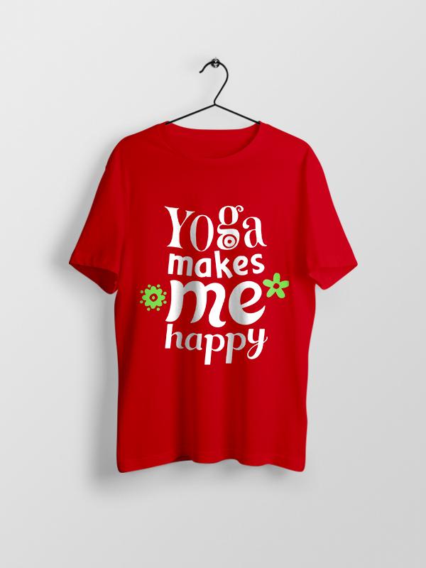 Yoga makes me Happy – Unisex Tshirt