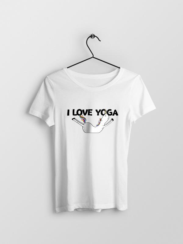 I Love Yoga – Women Tshirt
