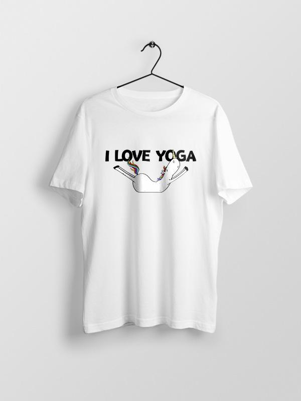 I Love Yoga – Unisex Tshirt