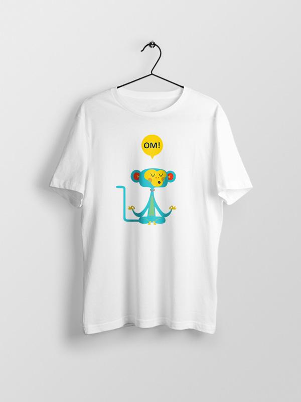 OM Cartoon – White Unisex Tshirt