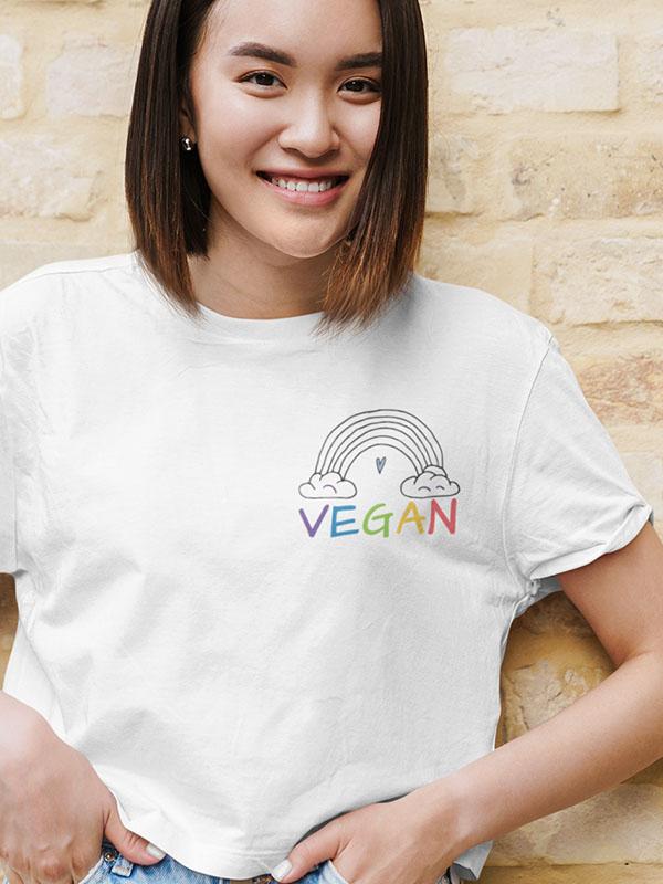Vegan Rainbow Pocket – Women Tshirt