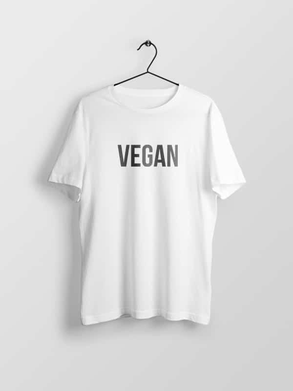 Vegan Word White – Vegan Tshirt