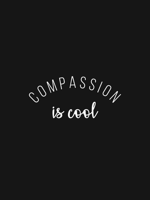 Compassion is Cool – Black Vegan Tshirt