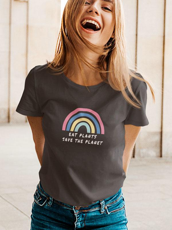 Eat Plants Rainbow – Women Tshirt