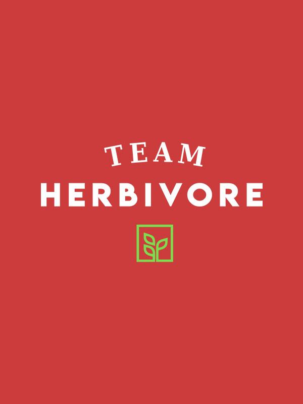 Team Herbivore – Red Unisex Hoodie