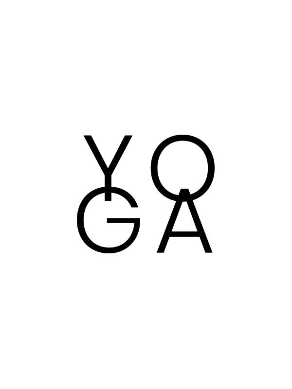 Yoga Word White – Women Tshirt